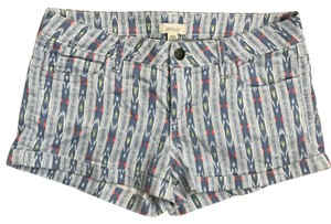 Aerie Cuffed Shorts Blue