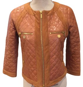 Tory Burch light brown Leather Jacket