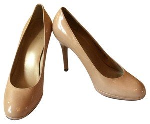 Stuart Weitzman Leather Patent Nude Platforms