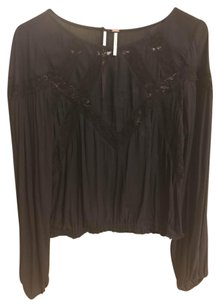 Free People Top Black (with Lace)