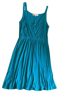 Ann Taylor LOFT short dress Teal/Turquoise Teal Wrap Straps Summer on Tradesy