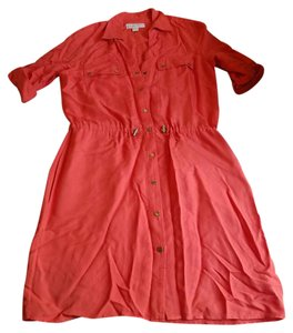 Michael Kors short dress Orange Rayon Shirt Snaps on Tradesy