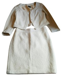 Banana Republic Cream Banana Republic Wool Skirt Suit