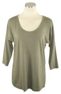Theory Keyhole Stretchy Stretch T Shirt Green