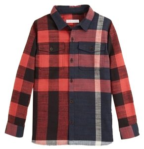 Burberry Kids Button Down Shirt Deep Navy