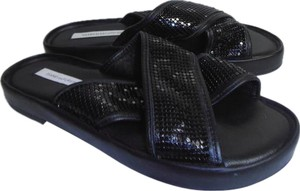 Diane von Furstenberg Designer Dvf New Without Box Sequin black Sandals