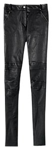 Nicole Miller Leather Straight Pants Black