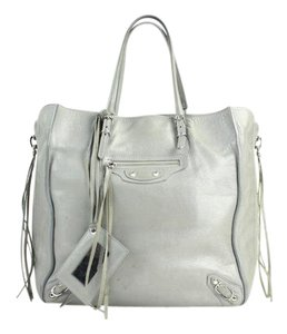 Balenciaga City First Afternoon Night Morning Tote in Grey
