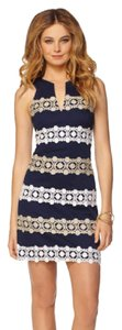 Lilly Pulitzer Navy Gold Cocktail Dress