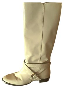 Marc by Marc Jacobs Buckle Patent Patent Leather Riding Equestrian Light Gray Boots