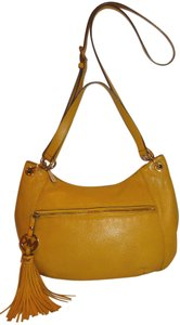 Michael Kors Refurbished Yellow Leather Lined Cross Body Bag