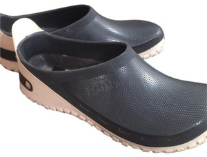 Birkenstock Navy blue and white Mules