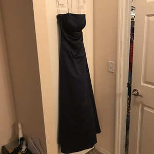 David's Bridal Navy Blue Ball Gown Dress