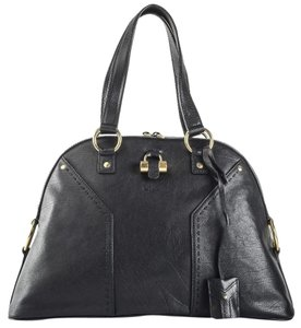 Saint Laurent Ysl Muse Giant Large Oversized Satchel in BLACK