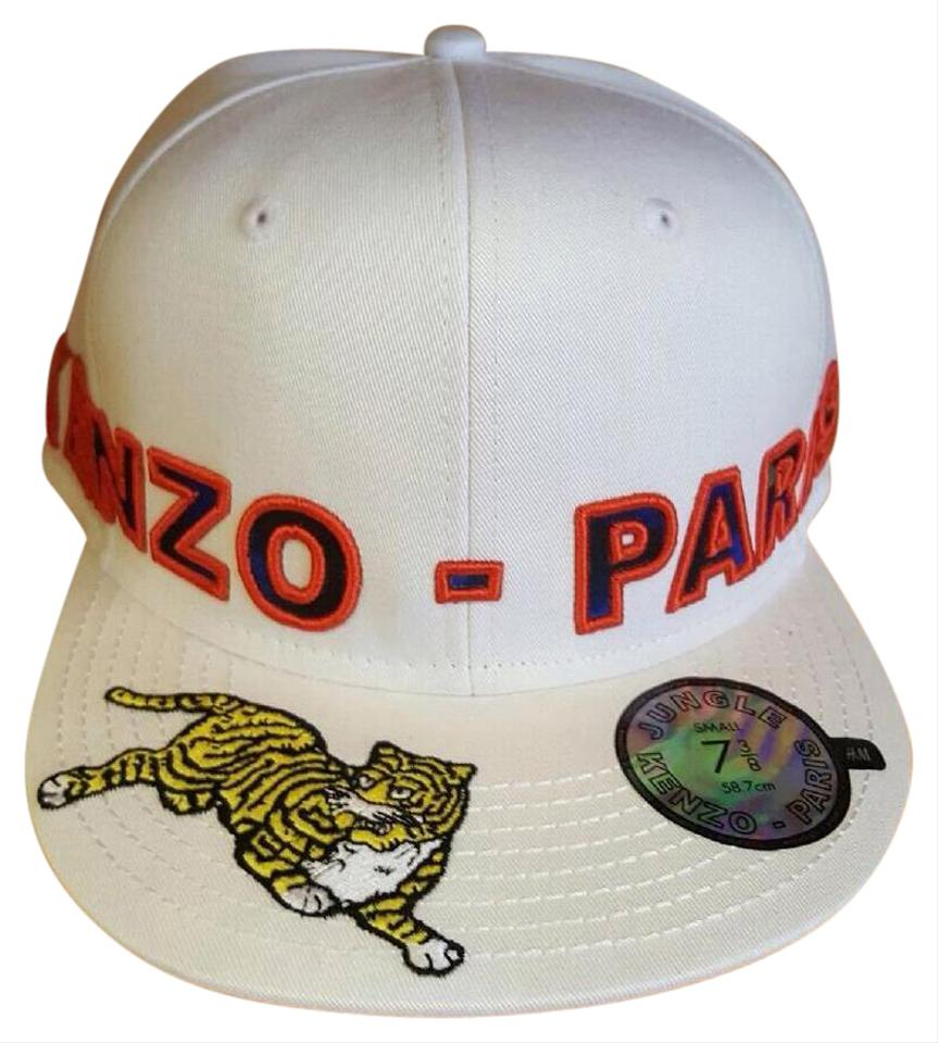 986a6c87b84 Kenzo x H M KENZO x H M MENS White Jungle Paris Fitted limited CAP SIZE Med  7 ...