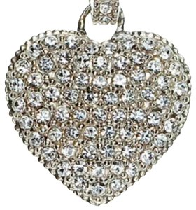 Judith Jack Sterling Silver Reversible Pave Heart Necklace