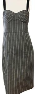 Nanette Lepore short dress Gray with White Stripe on Tradesy