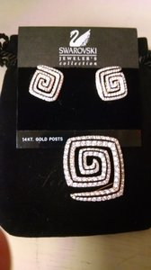 Swarovski Abstract Pin and Earring Set