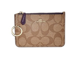 Coach Coach keys Pouch with Gusset Coin purse: MSRP $65