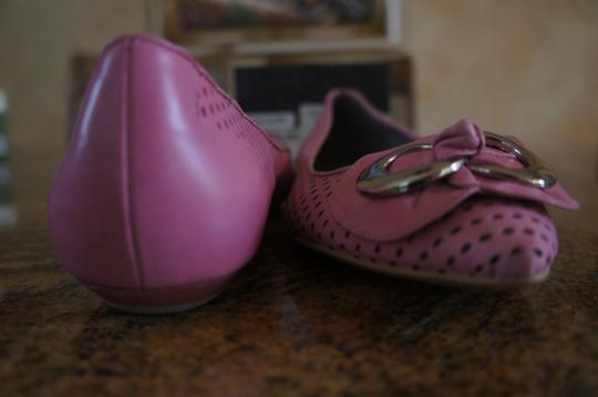 Via Spiga Leather Non Slip Sole New With Box Pink Flats