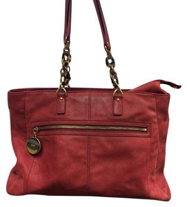 Fendi Large Designer Tote in Red
