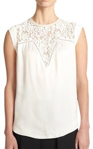 Rebecca Taylor Top White (CHALK)
