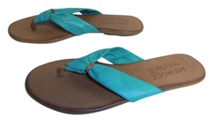 Miz Mooz Super Soft Leather Rubber Sole Flip Flop New Without Box Thong green Sandals