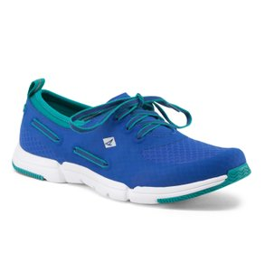 Sperry Sneaker Womens Comfort Electric Blue and Green Athletic