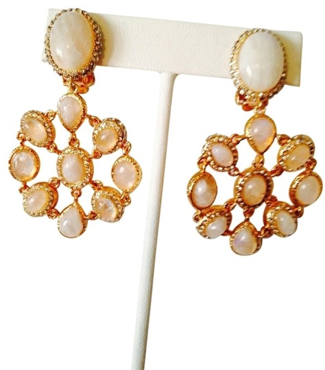 Preload https://item2.tradesy.com/images/alexis-bittar-gold-and-peach-crystal-encrusted-moonstone-clip-earrings-2061361-0-0.jpg?width=440&height=440