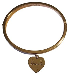 Coach Coach Hinged Bracelet with Heart Charm: MSRP $135