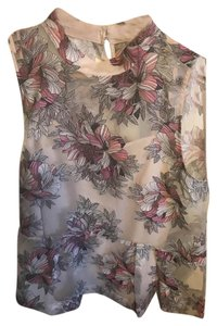Anthropologie Top Black, Pink, Cream