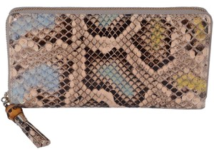 Gucci Gucci Women's 307984 Ghost Ombre Python Snakeskin Bamboo Wallet