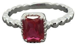 Other 925 Sterling Silver Red CZ Ring