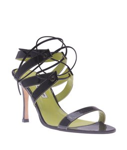 Manolo Blahnik Manolo Strappy Black Sandals