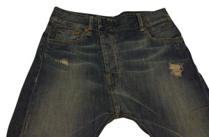 R13 Capri/Cropped Denim-Distressed