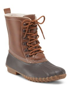 Esprit Duck Snow Rubber Sole Whiskey/Brown Boots