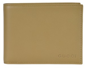 Gucci Gucci 278596 Men's Light Olive Green Leather Embossed Logo Wallet