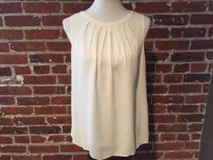 Boden Sleeveless Office/work Shirt Bow Top off white