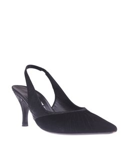Salvatore Ferragamo Slingbacks Pointed Toe Black Pumps