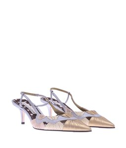 Christian Lacroix Slingback Leather Pointed Toe Multi-Color Pumps