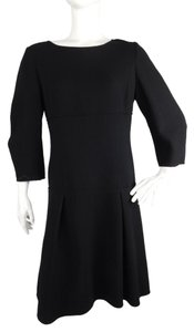 Oscar de la Renta Wool Fit & Flare Dress