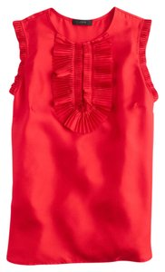 J.Crew Geniune Ruffled Top Red