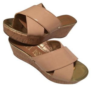 Sam & Libby Summer Cork Peach Sandals