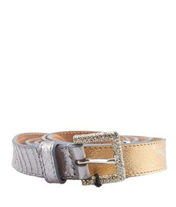 Dolce&Gabbana Dolce & Gabbana Gold Leather Belt, Size 90/36 (53181)