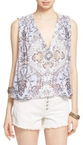 Free People Top Blue Multi
