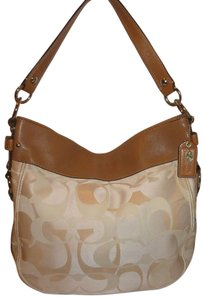 Coach Refurbished Monogram Jacquard X-lg Lined Hobo Bag
