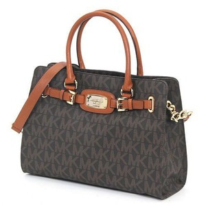 Michael Kors Mk Tb Satchel in black/dark brown/ gold