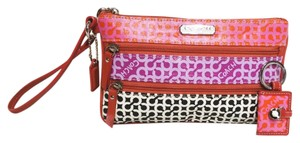 Coach Op Art Keyfob Pink Clutch