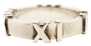 Tiffany & Co. #10274 Ring sterling Silver 925 Atlas US size 5 roman numerals