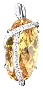 Charles Winston Charles Winston Pendant Large Yellow Crystal Bezeled Bail Any Chain